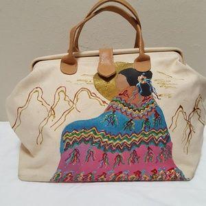 Native Woman Canvas Bag